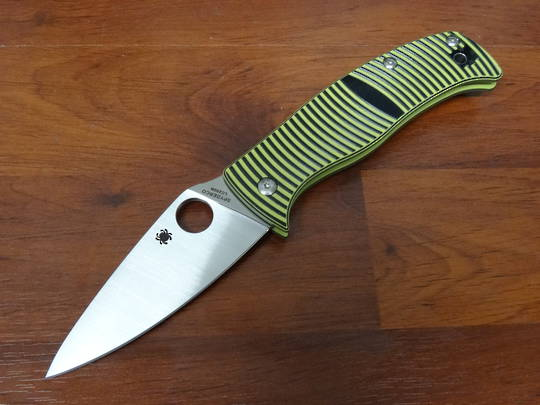 Spyderco Caribbean Sheefoot Rustproof G-10 Folding Knife - C217GP