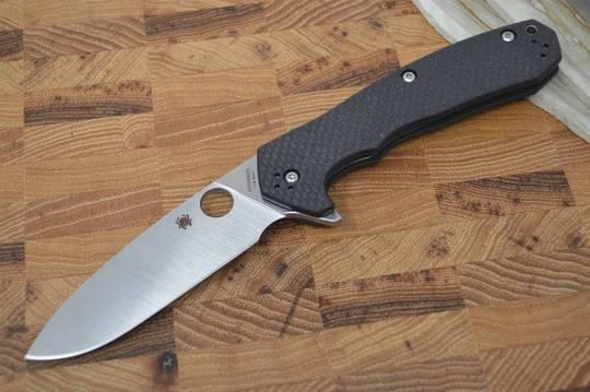 Spyderco Amalgam Flipper Knife S30V Blade, Carbon Fiber/G10 Laminate Handles