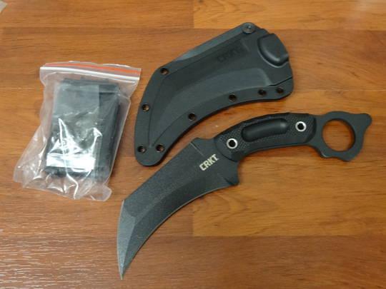 CRKT McGlaun Du Hoc Fixed Blade Karambit Black G10 Handles
