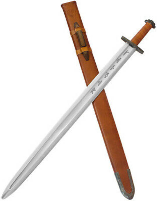 """Condor Viking Ironside Sword 30.25"""" Carbon Steel Blade, Leather Wrapped Handle and Sheath"""