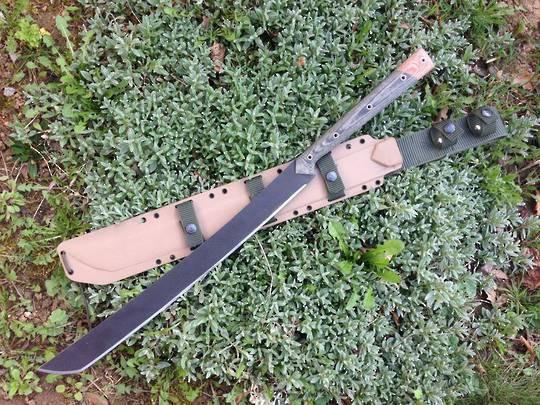 Condor Yoshimi Machete Carbon Steel Blade, Micarta Handles, Kydex Sheath