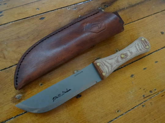 Condor Primitive Camp Knife, Micarta Handles, Leather Sheath