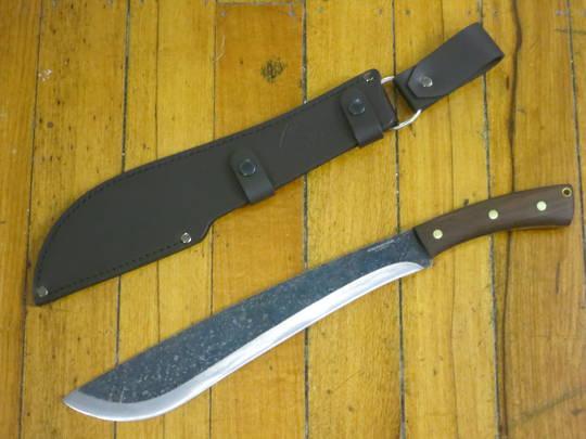 Condor Jungolo Machete Carbon Steel Blade, Walnut Handles, Leather Sheath