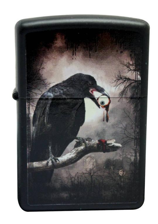 Zippo Goth Raven Eyeball Lighter