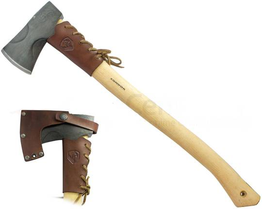 Condor Cloudburst Axe, American Hickory Handle, Leather Sheath