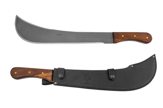 "Condor Swamp Master Machete 16"" Carbon Steel Blade, Walnut Handle, Leather Sheath"