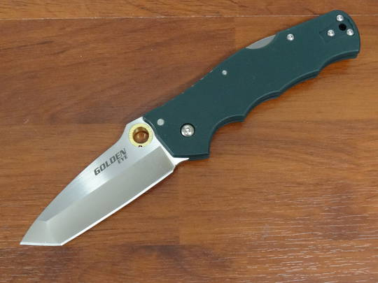 Cold Steel Golden Eye S35VN Tanto Blade, Forest Green G10 Handles