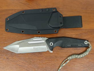 Smith & Wesson Fixed Blade Knife Black G-10, Tanto SWF604