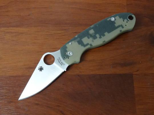 Spyderco Para 3 Folding Knife S30V (Paramilitary 3) Camo