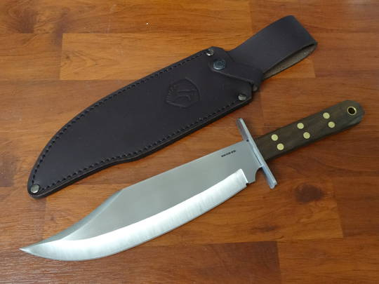 Condor Undertaker Bowie Knife Fixed, Walnut Handles, Leather Sheath