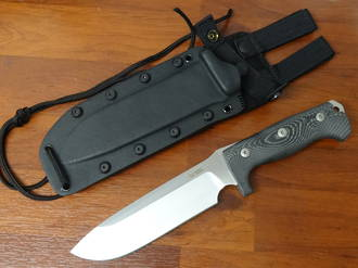 LionSteel M7 Combat / Survival Knife Fixed Sleipner Blade, Micarta Handles, Kydex Sheath