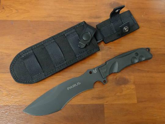 Fox Knives Parus Fixed Blade Knife & Survival Kit Black Forprene