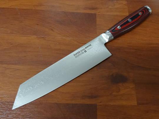 Super GOU Japanese Damascus Kiritsuke 200mm Display Model