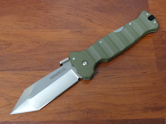 Cold Steel Immortal Folding Knife S35VN Plain Blade, OD Green G10 Handles