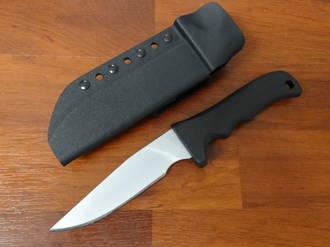 Maxpedition Long Clip Point Fixed Bead Blast D2 Plain Blade