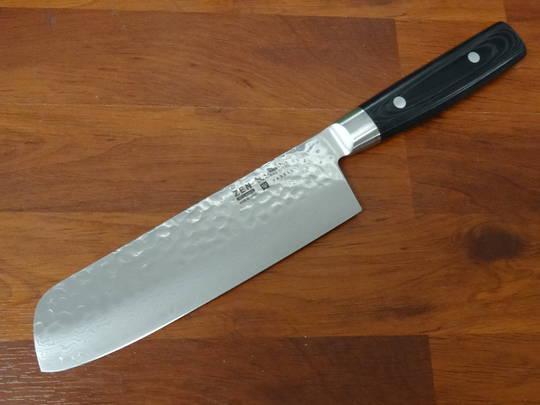 "Zen Damascus VG-10 Japanese Nakiri Knife 18cm / 7""- 37 Layers"