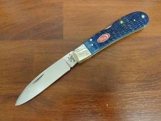 Case Cutlery Tony Bose Rogers Jigged Navy Blue Bone Tribal Lock Pocket Knife - 7065