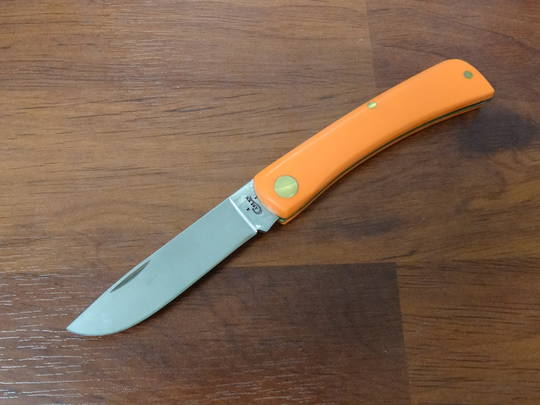 Case Cutlery Sod Buster Jr Knife, Smooth Orange Synthetic Pocket Knife - 80502