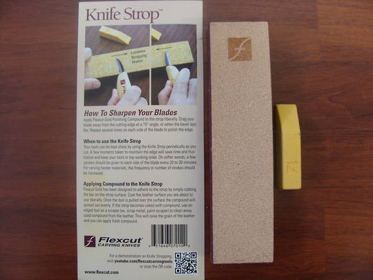 Flexcut Knife Strop W/ Compound - PW14