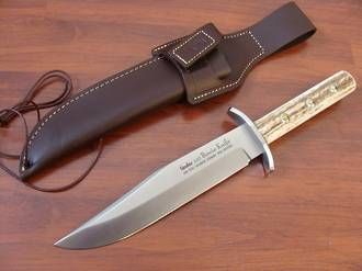 "Linder 12 3/4"" Stag Bowie Fixed Knife"