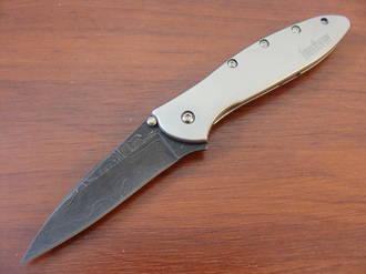 Kershaw Leek Damascus A/O Folding Knife