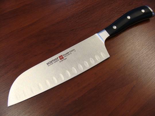 "Wusthof Classic Ikon Santoku Knife 17cm / 6 1/2"" - 4176/17"