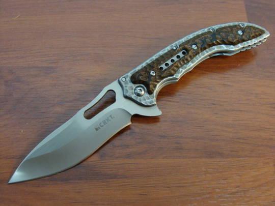 CRKT  Ikoma Fossil Small Folding Knife - 5460