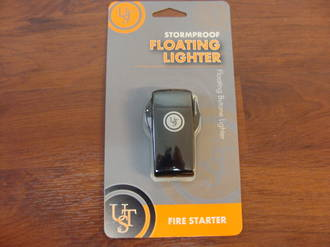 Ultimate Survival Floating windproof Lighter -  piezo-electric ignition Black