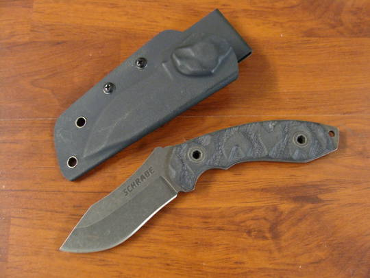 Schrade Full Tang Clip Point Re-Curve Fixed Blade G-10 Handle