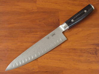 RAN Japanese DAMASCUS CHEF'S KNIFE 200mm HOLLOW GROUND