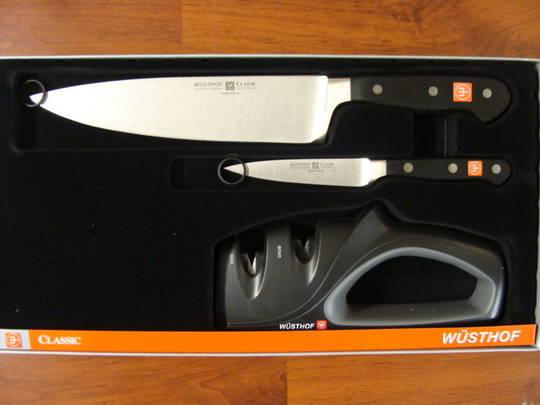Wusthof Classic Chef, Paring & Sharpener 3 Pce Set