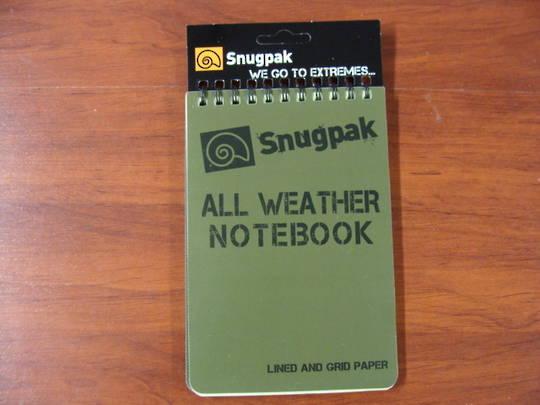 "All Weather Notebook Notebook 4"" x 6"" Green"