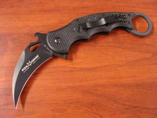 Fox Knives Karambit Folding Knife - BLACK G10