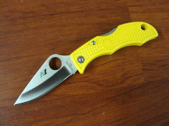 Spyderco H1 LadyBug 3 Plain Edge Knife Yellow Handle