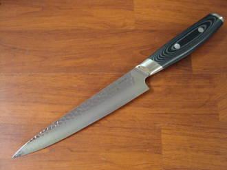 Tsuchimon Damascus VG-10 Slicing Knife 180mm - 3 Layers