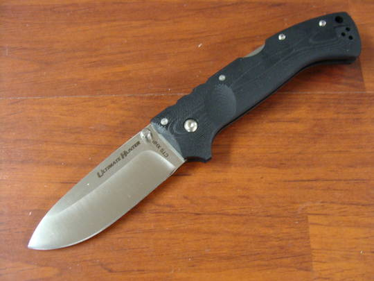 Cold Steel Ultimate Hunter Folding Knife S35VN Blade, Black G10 Handles