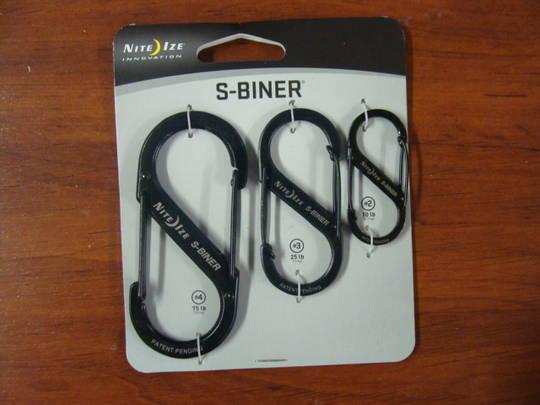 Nite Ize S-Biners Stainless Steel - 3 Pack Black