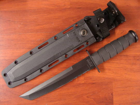 Ka-Bar Black Tanto Combo Edge Knife