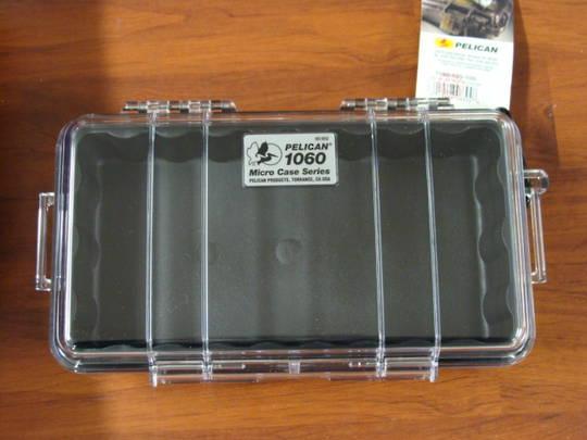 Pelican 1060 Micro Case Clear (Black)