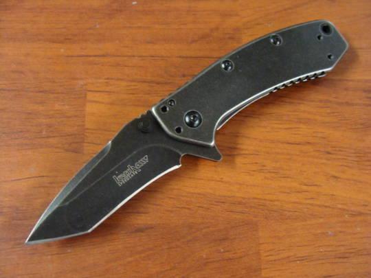Kershaw Cryo Tanto Blackwash Tanto Blade - 1555TBW