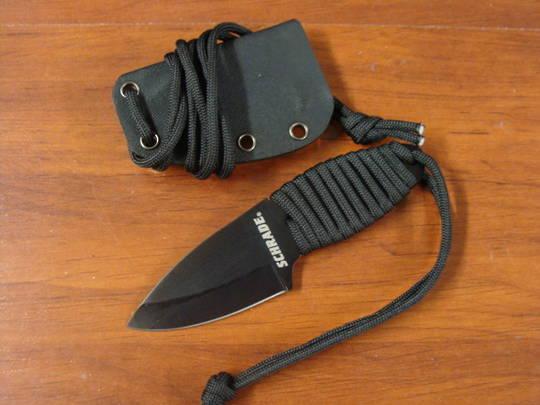 Schrade SCH406N Neck Knife Paracord Handle, W/ Sheath