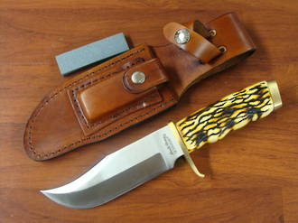 Schrade Pro Hunter with Derlin Stag Handles