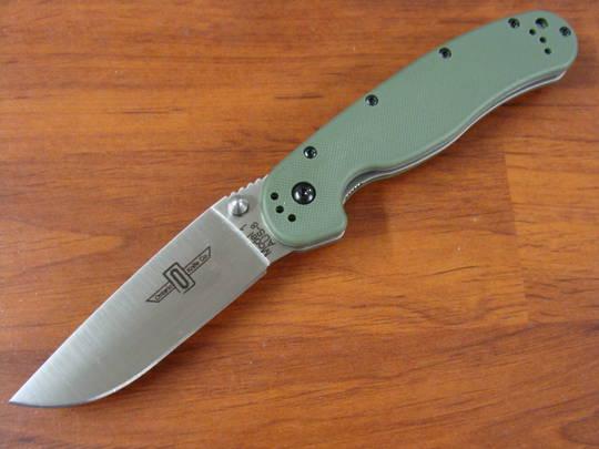 Ontario RAT M1 Folding Knife OD Green Handles