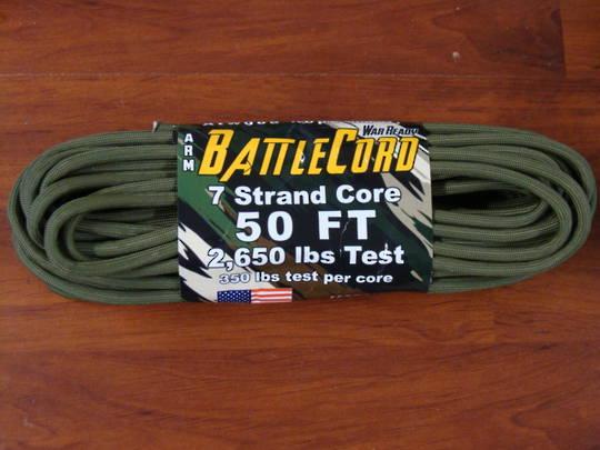 ARM BattleCord/ Battle cord 2,650 lbs Tested - OD Green