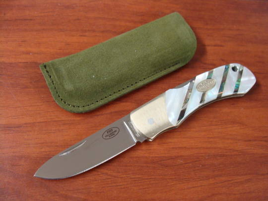 Fallkniven FH9 Folding Hunter 3G Blade, Mother of Pearl Handles