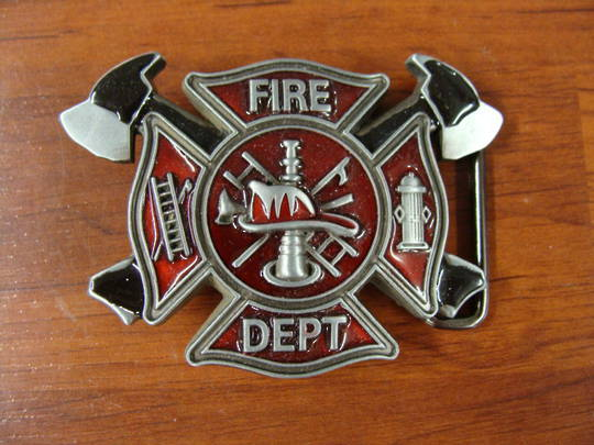 GIFTZONE - FIRE DEPT BUCKLE WITH $120 PURCHASE