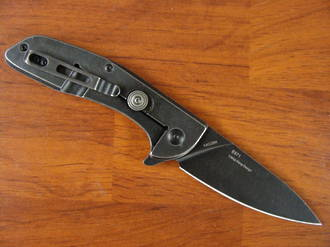 Real Steel E571 Black Stonewash Folding Knife
