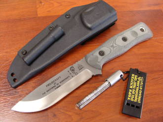 Tops BOB Hunter - Brothers of Bushcraft Knife - Tumble Finish