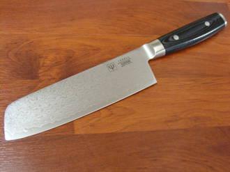 RAN JAPANESE DAMASCUS NAKIRI KNIFE 180mm