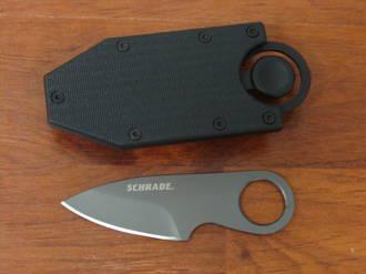 Schrade Pocket Money/Card Clip Full Tang Fixed Blade Knife